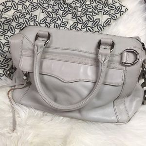 Rebecca Minkoff Grey Leather Morning After Bag MAB